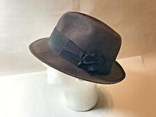 Vintage Keen's British Fedora Hat Quality Felt Farnsworth Reed Made in England