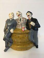 Vintage Skol Beer Three Men at Bar Chalkware Figures  Rare Hard to Find