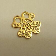 Anhänger 585 Gold für Halskette Kette 14 Karat Kleeblatt Echt Gold Schmuck