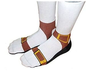 Sandal Socks Looks Like You're Wearing Sandals and Sox 75% Cotton 22% Poly 3% Sp