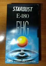 VIDEOCASSETTA STARDUST VHS E-180 EGH BLANK VIDEO VUOTA SIGILLATA EXTRAHIGHGRADE