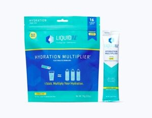 NEW Liquid I.V. Hydration Multiplier - Lemon Lime - 16 Packets exp. 12/2022