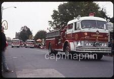 LANSDALE PA Fire Truck Fairmount Dept Parade Vtg 1971 Slide Photo Firefighting