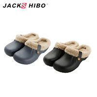 Mens Winter Slippers Indoor Outdoor Clog Soft Plush Lined Warm Fuzzy House Shoes