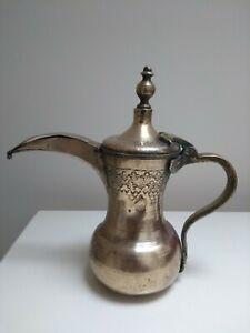Antique Islamic Brass Engraved Dallah Coffee Pot