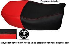 RED & BLACK VINYL CUSTOM FITS 91-99 KAWASAKI ZR 750 ZEPHYR DUAL SEAT COVER ONLY