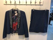 NWT ALBERTO MAKALI 2 Pc Skirt Sz 8 Jacket Sz 10 Sequin Collar