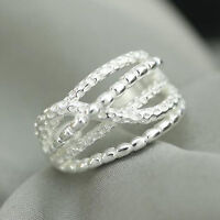 925 Solid Sterling Silver Plated Women/Men NEW Fashion Ring Gift SIZE OPEN SEP05