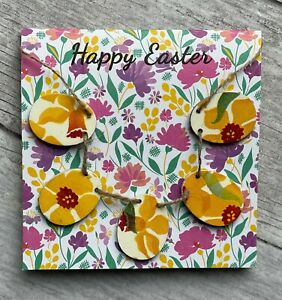 Handcrafted 'Happy Easter' Card With Emma's Bridgewater's Daffodil Mini Bunting