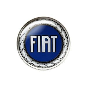 Adesivo Fiat 3D Ufficiale Logo Blu 48 mm