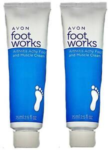 2 Pack Foot Works Healthy Arthritis Achy Foot & Muscle Cream 2.5 fl oz