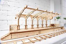 Ugears Railway Platform 3D Puzzle Mechanical Wooden Construction Set IQ DIY