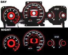 96-00 EK Honda Civic EX Si GLi Glow Gauge TYPE-R RED Reverse MT KMH BLACK