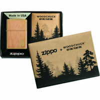 Zippo Unisex Lighter  Wood Chuck Flame Double Sided Wood Design, Windproof