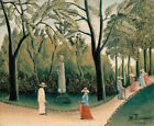 Luxembourg Gardens Henri Rousseau Fine Art Print on Canvas Giclee Painting Small