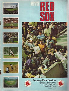 Vintage Boston Red Sox Second Edition 1973 Fenway Park Scorebook