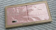 Set of 2 Pillowcases Pink Color Fast Color Novelty Embrodery NEW Old Stock MY19