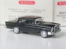 TOP: Wiking Mercedes 220 S Heckflosse schwarz in OVP