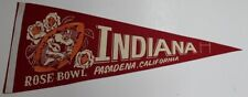 Vintage Indiana Hoosiers 1968 Rose Bowl Football Pennant 30x12 Inch 52338