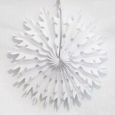 Honeycomb Paper Christmas Decorations - 2  x 35cm Snowflakes