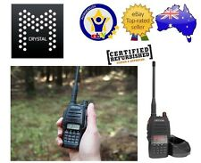 CRYSTAL DBH50R HAND HELD UHF CB RADIO 5W WATT 80CH 2 WAY LED LIGHT CHARGER *RFB*