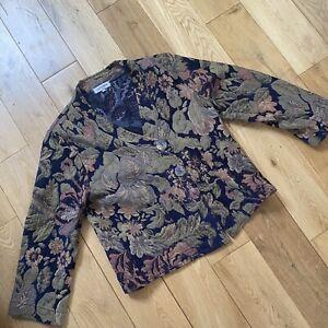 Sahara Tapestry Texture Print Boho Artisan Jacket Small/Medium Size 10-12 Ch 36