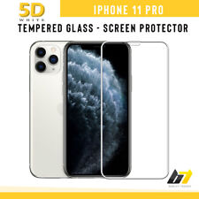 For iPhone 11 Pro Genuine Tempered Glass Screen Protector 5D Full Screen White
