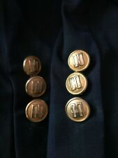 More details for vintage blazer buttons gold set of ten daks dd 70s/80s