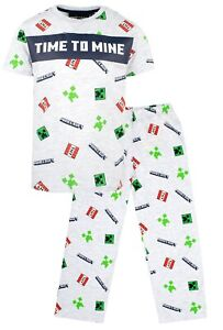 Minecraft - Minecraft Boys Short Sleeve Pyjama Set - Pjs With Minecraft Creeper