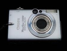 Canon PowerShot S500 dans l'état, pour pièces, ne fonctionne pas, capteur HS.