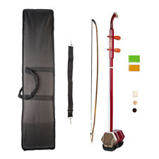 1 Set 2 Corde Erhu Chinese Fiddle Traditional Strumento Musicale Rosso