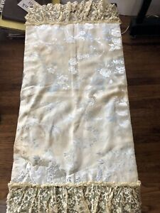 Vintage Silk Fabric With Lace Trim