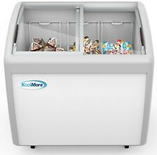 Commercial Ice Cream Chest Freezer 10 Cu Ft With Adjustable Thermostat White