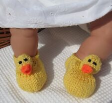 PRINTED INSTRUCTIONS-BABY RUBBER DUCK SHOES KNITTING PATTERN-MADMONKEYKNITS