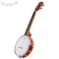 Kmise 4 String Banjo Ukulele Uke Concert 23 Inch Sapele Wood