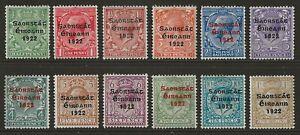 IRELAND 1922 'Irish Free State' Thom opt set to 1s + VARIETY mint SG#52-63 cv£88