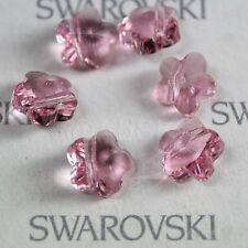 12 pieces  Swarovski Element 5744 8mm Flower Shaped Crystal Beads Light Rose