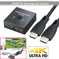 HDMI 2.0 Bi-directional Switch 3D UHD 4K HDMI Switcher Splitter Hub 1x2 HDCP