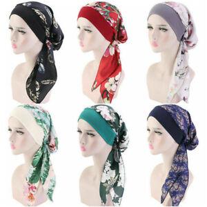 Damen Chemo Turban für Krebs Kopftuch Frauen Kopfbedeckung Headwrap Schals Gap