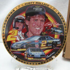 1994 Hamilton Collection Rusty Wallace Miller Genuine Draft Collector Plate COA