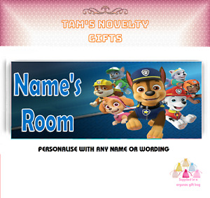Paw Patrol personalised door plaque perfect children's Perfect gift
