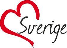 "Auto Aufkleber "" SVERIGE "" Sticker Schweden ca.9x12cm konturgeschnitten"