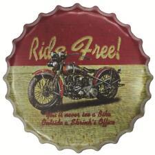 Round Retro Metal Tin Sign Plaque Vintage RIDE FIEE Picture Bar Pub Man Cave