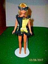 Vintage Barbie Skipper 9 inch Doll in in Tagged Mardi Gras Outfit made in Japan