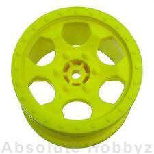 "DE Racing Trinidad 2.2"" 1/10 Stadium Truck Wheels (Yellow) (TLR 22T) (1pr)"