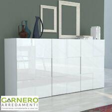 CREDENZA QUADRA 3 ante madia moderna laccato bianco lucido design casa soggiorno