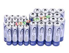 16 + 16x AA AAA 1000mAh 3000mAh 1.2V NI-MH batería recargable RC/MP3 3A 2A BTY