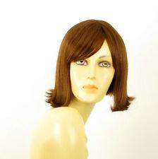 perruque femme 100% cheveux naturel châtain clair cuivré ref EMY 30