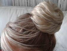 Messy Beehive Bun Drawstring Clip In Hairpiece Elasticated Hair Extension
