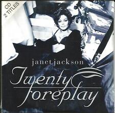 JANET JACKSON Twenty Foreplay INTERNATIONAL EDIT & Runaway MIX CD single SEALED